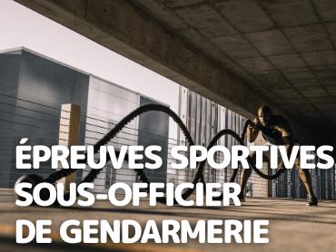 Épreuves Sportives Sous-Officier de Gendarmerie