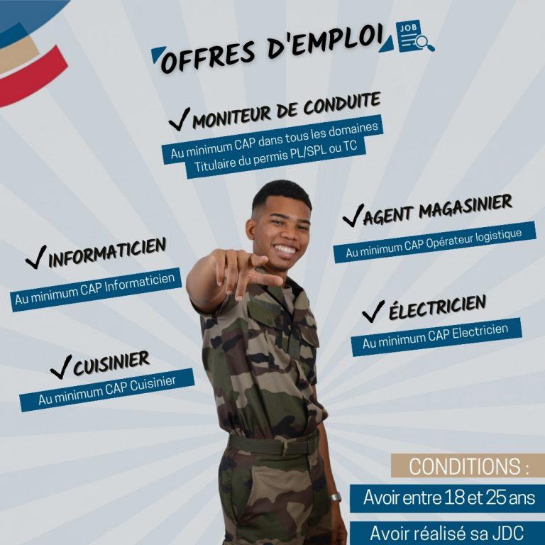 Offres d'emploi RSMAR de juin juillet 2021